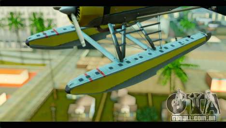 GTA 5 Sea Plane para GTA San Andreas vista traseira