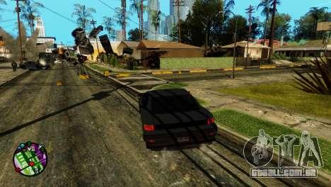 Transporte V2, em vez de balas para GTA San Andreas terceira tela