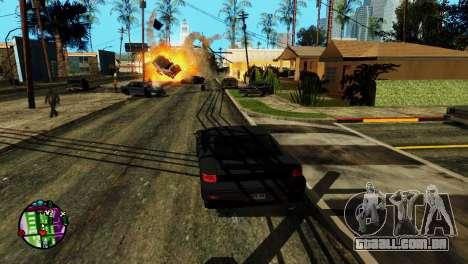 Transporte V2, em vez de balas para GTA San Andreas por diante tela