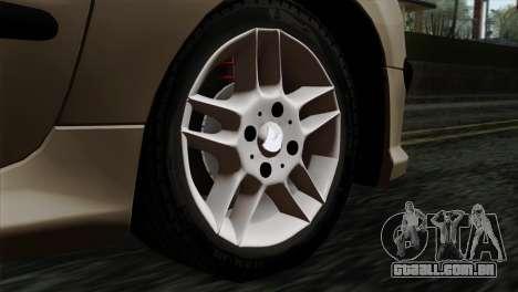 Peugeot 206 para GTA San Andreas traseira esquerda vista