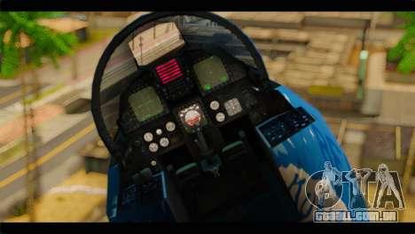 F-15E 303rd TFS Fighting Dragons para GTA San Andreas vista traseira