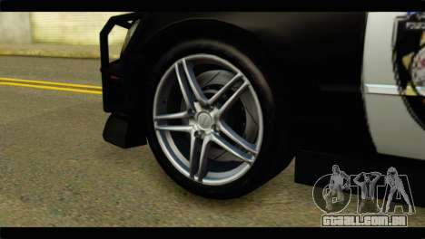 Toyota Altezza Police para GTA San Andreas traseira esquerda vista