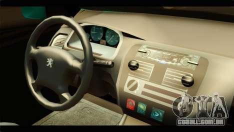 Peugeot 106 para GTA San Andreas vista direita