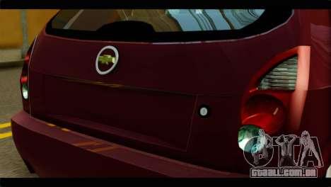 Chevrolet Celta VHC 1.0 para GTA San Andreas vista traseira