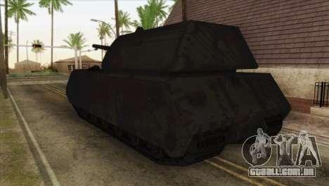 Panzerkampfwagen VIII Maus para GTA San Andreas esquerda vista