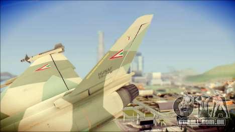 EuroFighter Typhoon 2000 Hungarian Air Force para GTA San Andreas traseira esquerda vista