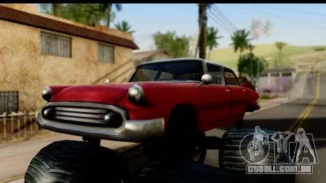 Monster Glendale para GTA San Andreas traseira esquerda vista