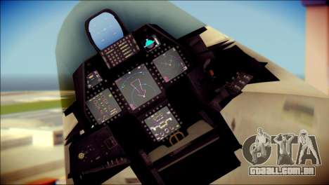 FA-18D Hornet Blue Angels para GTA San Andreas vista direita