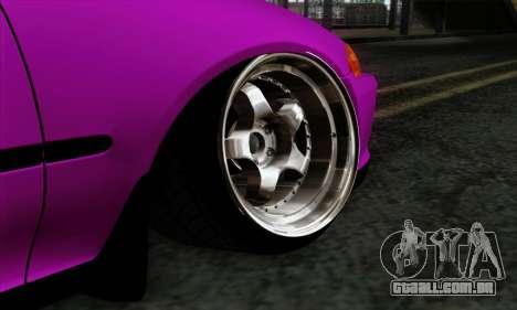 Honda Civic EG6 para GTA San Andreas traseira esquerda vista