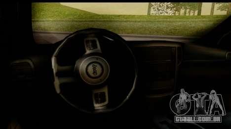 Jeep Grand Cherokee SRT8 2014 para GTA San Andreas vista interior