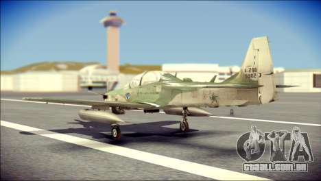 Embraer EMB-314 Super Tucano E para GTA San Andreas esquerda vista