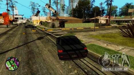 Transporte V2, em vez de balas para GTA San Andreas segunda tela