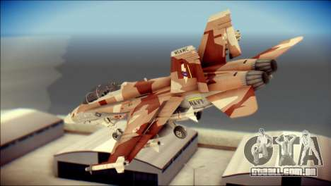 F-22 Raptor Starscream para GTA San Andreas esquerda vista