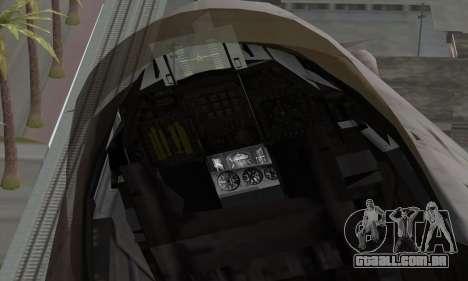F-16XL para GTA San Andreas vista direita