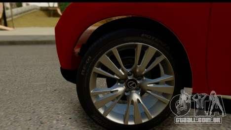 Lexus RX450h para GTA San Andreas vista traseira