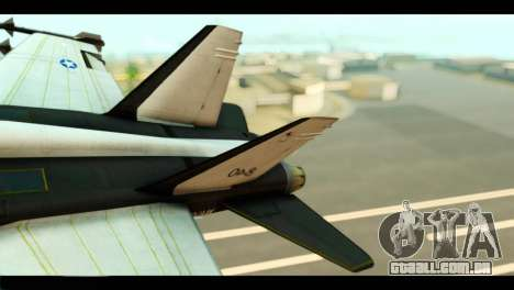 McDonnell Douglas FA-18 HARV v2 para GTA San Andreas traseira esquerda vista