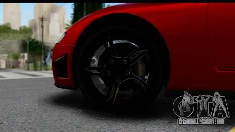 GTA 5 Overflod Entity XF para GTA San Andreas vista traseira