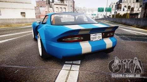 Bravado Banshee Double Stripe para GTA 4 traseira esquerda vista