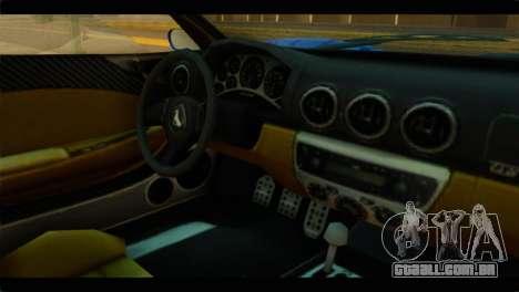 GTA 5 Grotti Turismo para GTA San Andreas vista direita
