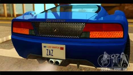 GTA 5 Grotti Turismo para GTA San Andreas vista traseira