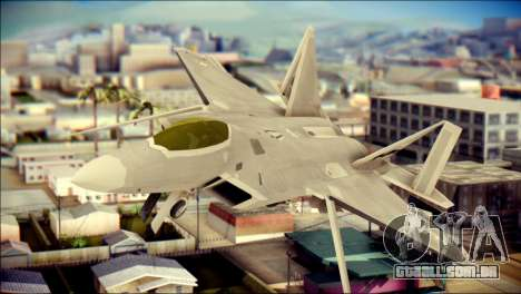 FA-18D Hornet Blue Angels para GTA San Andreas vista traseira