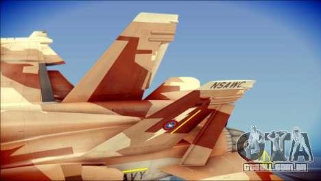 F-18D NSAWC para GTA San Andreas traseira esquerda vista