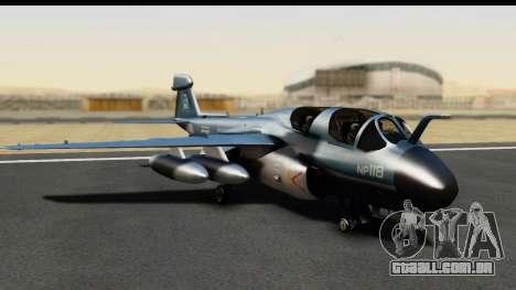 Northrop Grumman EA-6B ISAF para GTA San Andreas esquerda vista