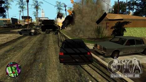 Transporte V2, em vez de balas para GTA San Andreas sétima tela