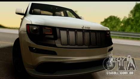Jeep Grand Cherokee SRT8 2014 para GTA San Andreas traseira esquerda vista