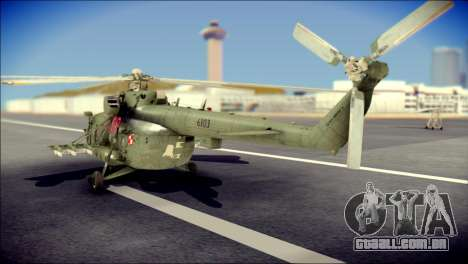 Mil Mi-8 Polish Air Force Afganistan para GTA San Andreas esquerda vista