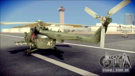 Mil Mi-8 Polish Air Force Afganistan para GTA San Andreas esquerda vista