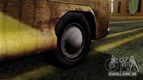 Volkswagen T2 Bob Marley para GTA San Andreas traseira esquerda vista