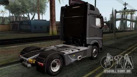 Mercedes-Benz Actros MP4 Euro 6 IVF para GTA San Andreas esquerda vista