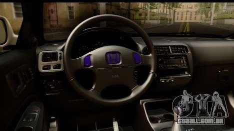 Honda Civic Si Coupe para GTA San Andreas vista interior