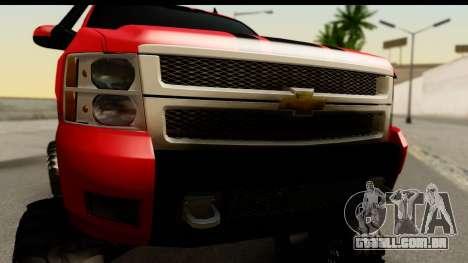 Chevrolet Silverado OffRoad para GTA San Andreas traseira esquerda vista