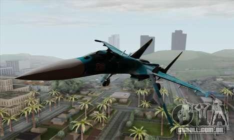 SU-27 Flanker A Warwolf Squadron para GTA San Andreas vista traseira