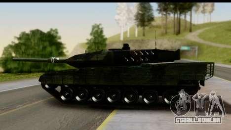 Leopard 2A6 Woodland para GTA San Andreas traseira esquerda vista