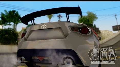 Toyota GT86 Itasha para GTA San Andreas vista direita