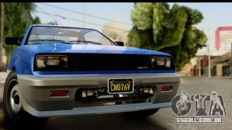 GTA 5 Dinka Blista Compact IVF para GTA San Andreas traseira esquerda vista