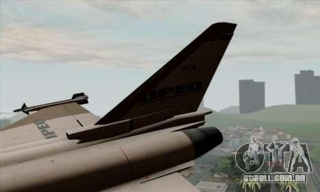 Eurofighter Typhoon 2000 UPEO para GTA San Andreas traseira esquerda vista