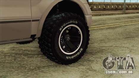 Ford F-150 Platinum 2013 4X4 Offroad para GTA San Andreas traseira esquerda vista