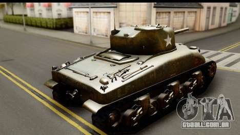 M4A1 Sherman First in Bastogne para GTA San Andreas esquerda vista