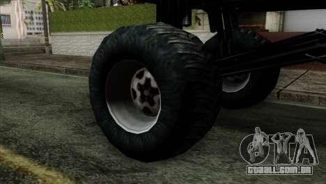 Monster Cadrona para GTA San Andreas traseira esquerda vista