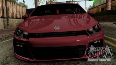 Volkswagen Scirocco R para GTA San Andreas vista traseira