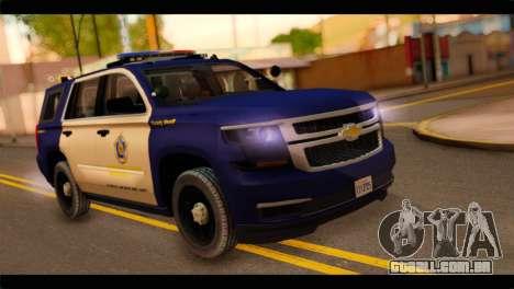 Chevrolet Suburban 2015 BCSD Sheriff para GTA San Andreas