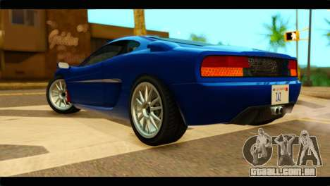 GTA 5 Grotti Turismo para GTA San Andreas esquerda vista