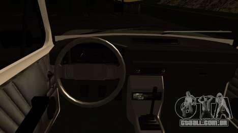 Fiat 128 para GTA San Andreas vista interior