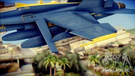 FA-18D Hornet NASA para GTA San Andreas vista direita