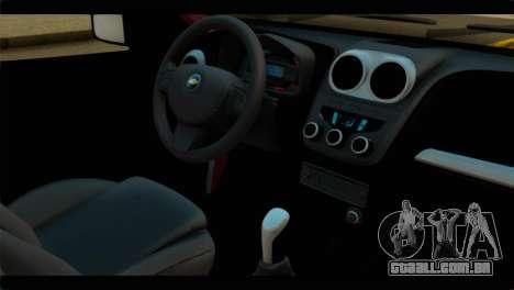 Chevrolet Celta VHC 1.0 para GTA San Andreas vista direita
