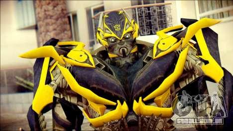 Bumblebee Skin from Transformers para GTA San Andreas terceira tela